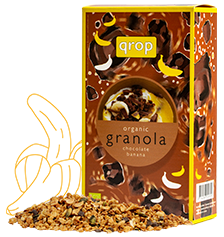 organic granola chocolate banana